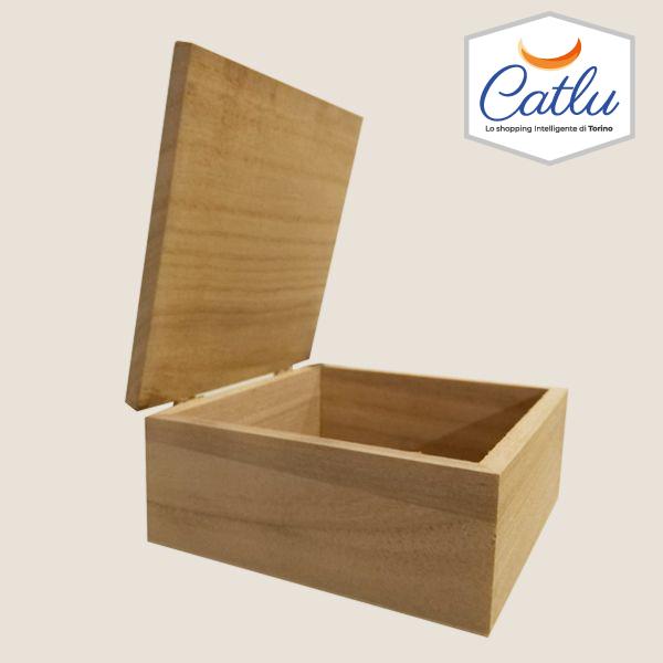 scatola in legno Découpage